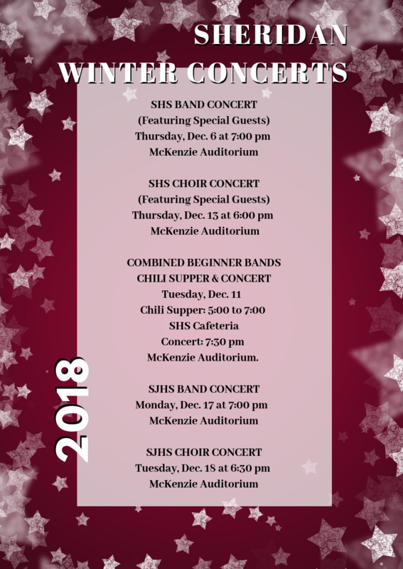 Winter Concerts Flyer: Details are in the post text