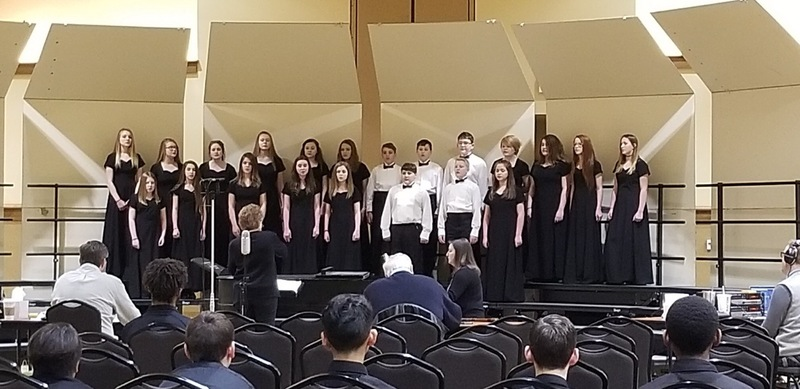 Three SJHS Choirs Receive Division 1 Ratings in Choral Performance Assessment