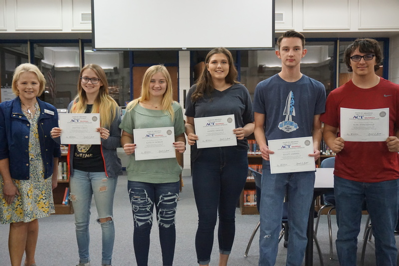 Students who earned the Platinum Certificates